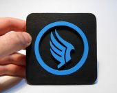 Handmade Mass Effect Paragon coaster