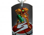 Metroid  Dog Tag Pendant Necklace