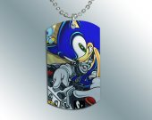SONIC THE HEDGEHOG Dog Tag Pendant Necklace #2