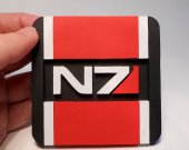 Handmade Mass Effect N7 coaster
