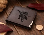 Dinosaur Ceratopsians  Leather Wallet