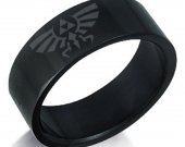Zelda Black Stainless Steel Ring
