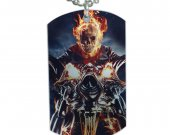 Ghost Rider Dog Tag Pendant Necklace