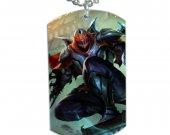 League of Legends Zed Dog Tag Pendant Necklace