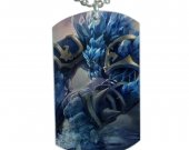 League of Legends Malphite Dog Tag Pendant Necklace