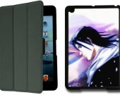BLEACH BYAKUYA KUCHIKI IPad Mini Black Protective Fold Smart Cover Case
