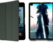 Final Fantasy VII Crisis Core IPad Mini Black Protective Fold Smart Cover Case
