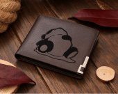 Sleeping Panda Leather Wallet