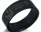 Star Wars Choose Wisely Black Stainless Steel Ring