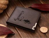 Calvin and Hobbes Leather Wallet