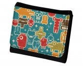 Robots & Aliens Pattern PU Leather Wallet