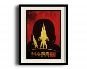 Mass Effect 3 minimalist poster, Mass Effect 3 digital art poster