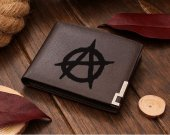 Anarchy Anarchists Symbol Leather Wallet