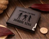 ZOMBIE CROSSING UNDEAD Leather Wallet