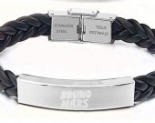 Bruno Mars Leather Stainless Steel Bracelet