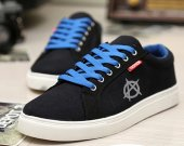 Anarchy Anarchists Symbol Canvas Sneakers Sport Casual Shoes