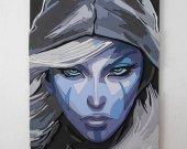 Handmade Drow Ranger, Dota 2 portrait