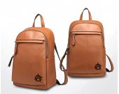 Anarchy Anarchists Symbol Genuine Leather Backpack