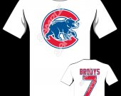 Chicago Cubs Personalized Baseball T shirt #2