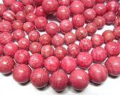 high quality 12-16mm 3strands  pink rhodochrosite gemstone  round ball veins jewelry beads
