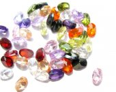 wholesale cubic zirconia gemstone  oval faceted assortment  jewelry beads cabochons 4x6mm 100pcs