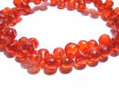 bulk cubic zirconia gemstone apricot drop onion faceted carmine red assortment  jewelry beads bracelet 5.5x7mm 64pcs