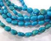 wholesale LOT  8x10mm  turquoise gemstone oval egg  dark blue assortment jewelry beads --10strands 16inch/L