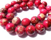 high quality 12mm 3strands 16inch, round ball hot  red  fuchsia veins multicolor mixed sea sediment veins imperial jasper jewelry beads