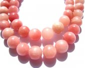 LOT gergous opal  gemstone 14mm 5strands 16inch strand ,high quality round ball pink jewelry beads