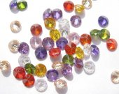 bulk cubic zirconia gemstone rondelle bicone  faceted assortment  jewelry beads cabochons 5mm 100pcs
