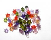 wholesale cubic zirconia gemstone  star faceted assortment  jewelry beads cabochons 6mm 100pcs
