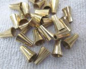 5x8 7x12mm 100pcs  Wide hole metal connector bead   bione  Bali gold spacer charm finding