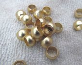 5x8mm 100pcs top quality Wide hole gold ring connector bead metal roundelle ball crab spacer charm finding