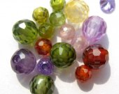bulk cubic zirconia CZ gemstone roud ball faceted assortment  jewelry beads cabochons 5mm 100pcs