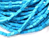 wholeslae bulk 6x 8mm  turquoise gemstone brick rectangle faceted  green blue  mixed jewelry beads --10strands 16inch/L