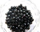 bulk cubic zirconia CZ gemstone roud ball faceted black assortment  jewelry beads cabochons 4mm 100pcs