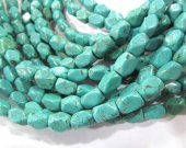 wholesale bulk 8x10mm  turquoise gemstone brick rectangle faceted  green blue  mixed jewelry beads --10strands 16inch/L
