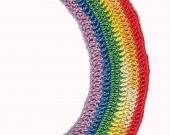 Crocheted Classic Rainbow Bookmark Kit
