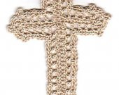 Crocheted Old Rugged Cross Bookmark Kit