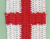 Crocheted St. George's Cross Bookmark Kit