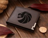 Seven Lions Logo Leather Wallet
