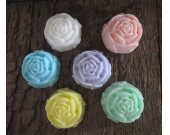 Ten Miniature Rose Goats Milk Soap Favors