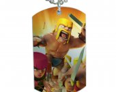 Clash Of Clans Dog Tag Pendant Necklace