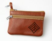 Dragon age Qunari mage Symbol Leather Zippered Coin Bag Key Pouch