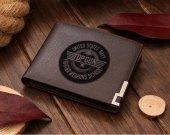 Top Gun Fighter Weapons School Crest Leather Wallet