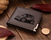 Mini Cooper Cartoon Car Leather Wallet
