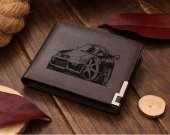 Nissan Gtr Cartoon Car Leather Wallet