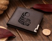 Cheshire Cat  Leather Wallet