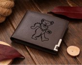 Grateful Dead dancing bear Leather Wallet