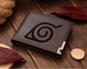 Naruto Shippuden Konoha Logo Leather Wallet